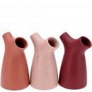 wholesale Flowerpots & Vases: Ceramic vase Olana, 2 openings D3.5 / 2.5cm, 3 col